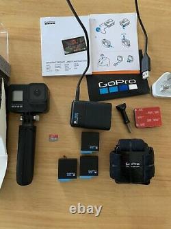 Go Pro Hero8 Black 3x batteries, 128g, shorty tripod, headstrap, Battery Charger