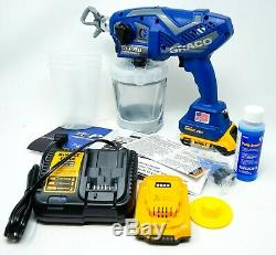Graco 17N166 TC Pro Cordless Airless Handheld Paint Sprayer +2 Batteries+Charger
