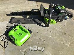 Greenworks PRO 80V 18-Inch Cordless Chainsaw with Battery & Charger