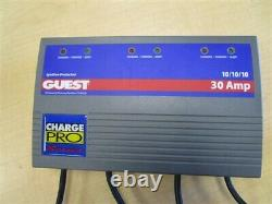 Guest 2631a Charge Pro Series 3 Bank 30 Amp Battery Charger Marine Boat