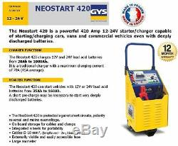 Gys Neostart 12 24 Volt Professional Battery Charger 420 Amp Starter