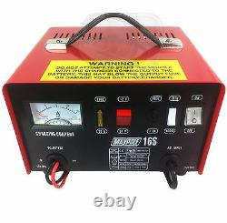 Heavy duty metal case car battery charger professional lorry 12A 12v 24v 180Ahr