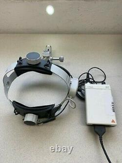 Heine 3S LED HeadLight Headband Pro L with MPack rechargeable battery & charger