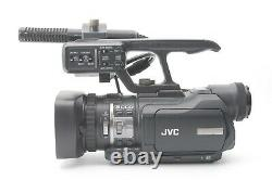 JVC GY-HM100E Camcorder ProHD Handheld 3-CCD With Mic, Charger and Battery