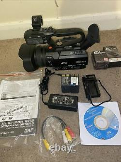 JVC GY-HM170E 4K Camcorder 2 Batteries And Chargers 42 Hours Use Only Mint