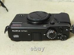 MINT Fujifilm X-Pro 1 Mirrorless Camera Fuji + CHARGER. BATTERY STRAP BODY CAP