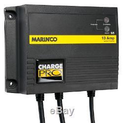 Marinco Charge Pro 12V 24V 10 Amp 2 Bank On-Board Marine Boat Battery Charger