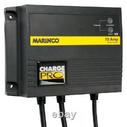 Marinco Charge Pro 12V 24V 10 Amp 2 Bank On-Board Marine Boat Battery Charger