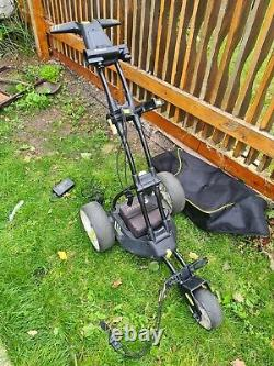 Motocaddy M1 Pro Electric Golf Trolley with battery, charger and travel bag