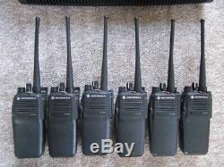 Motorola DP 3400 UHF DIGITAL professional DMR x 6 + charger NEW batterys