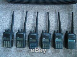 Motorola GP388 VHF(6) Professional security radios, new batterys / impres charger