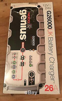 NOCO Genius G26000 UK 12V / 24V 26A UltraSafe Pro Smart Battery Charger NEW