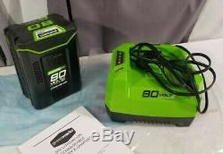 New GreenWorks Pro 80V Battery & Charger GBA80200 2901302 & GCH8040 2901402