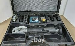 Nibco Crimper Model PC-200M pro press Tool with Charger, Case & 2 Batteries