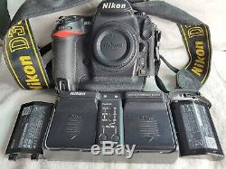 Nikon D3S Pro Full Frame Digital Camera with Two Original Batteries, Charger and