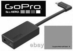 Original GoPro HERO 7 6 5 BLACK PRO 3.5mm MIC ADAPTER + EXTRA BATTERY + REMOTE
