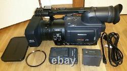 Panasonic AGHVX200 3CCD Camcorder P2 HD Card miniDV 27 Tape Hour Video Camera