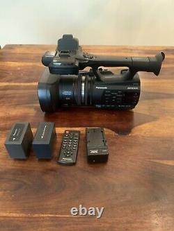 Panasonic AG-AC90 Camcorder with 2 batteries, charger, and remote