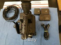 Panasonic AG-AF100P AVCCAM HD Digital Video Camera -162Hours 2 Batteries Charger