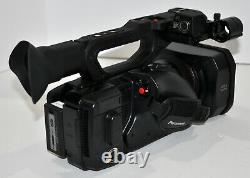 Panasonic AG-UX180 4k Professional Camcorder, carrying case, charger, batteries