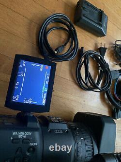 Panasonic HVX200 Camcorder 2 Batteries Charger Flight Case