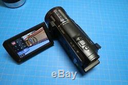 Panasonic X920 Camcorder Black original box, charger, 3 batteries and more