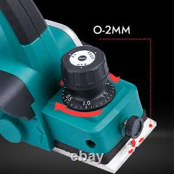RUYIKA Pro Electric 21V Cordless Wood Planer 82MM Blades 4.0Ah Battery Charger