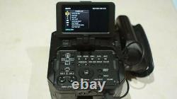 SONY NEX FS100 35 Camera with 2x Batteries, Charger, Side Grip & Remote Control