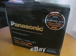 Sanyo Panasonic Eneloop Pro rechargeablebattery charger + 4 AA Japan 2450mAh