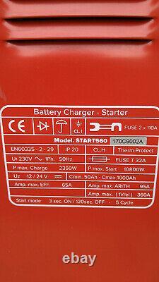 Sealey START560 Professional Car/Commercial Battery Starter/Charger 12/24V 3