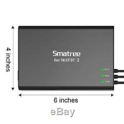 Smatree Mavic 2 Pro Charger Hub, Multi Battery Charger for Mavic 2 Pro/Zoom Drone