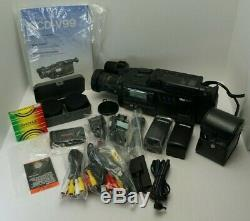 Sony HI8 HANDYCAM Pro Camera CCD-V99 WithCharger, Book, 4 Batteries and Lenses Lot