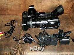 Sony HVR-Z1U HD Camcorder Excellent Condition with charger and 2 batteries