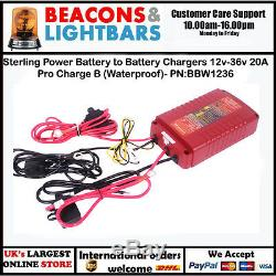 Sterling Power Battery to Battery Chargers 12v-36v 20A Pro Charge B (Waterproof)