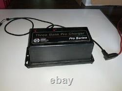 Three Bank Pro Charger Pro Series Marine Boat Battery Charger 15 amps x 3