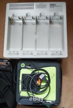 Uk Seller Zoll Aed Pro, Case, Chargeable Battery 3 Lead Ecg & Charger