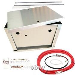 Universal Billet Aluminum Car Battery Tray Hold Down Relocation Box Bracket Kit
