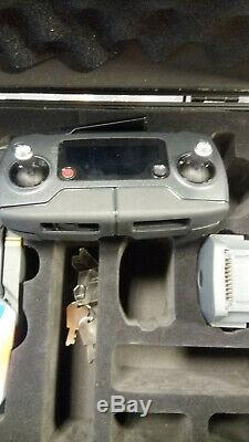 Used Black DJI Mavic Pro with case, 2 batteries, charger and remote