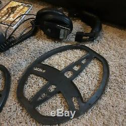 Used Garrett AT Pro metal detector, All in 1 battery charger, 8 rechargeables +