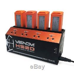 Venom Pro Yuneec H520 & Typhoon H+ 4-Port Battery Charger with Dual USB Outputs
