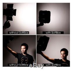 YONGNUO YN900 LED Video Light 5500K PRO KIT W Battery Softbox Charger AC adapter